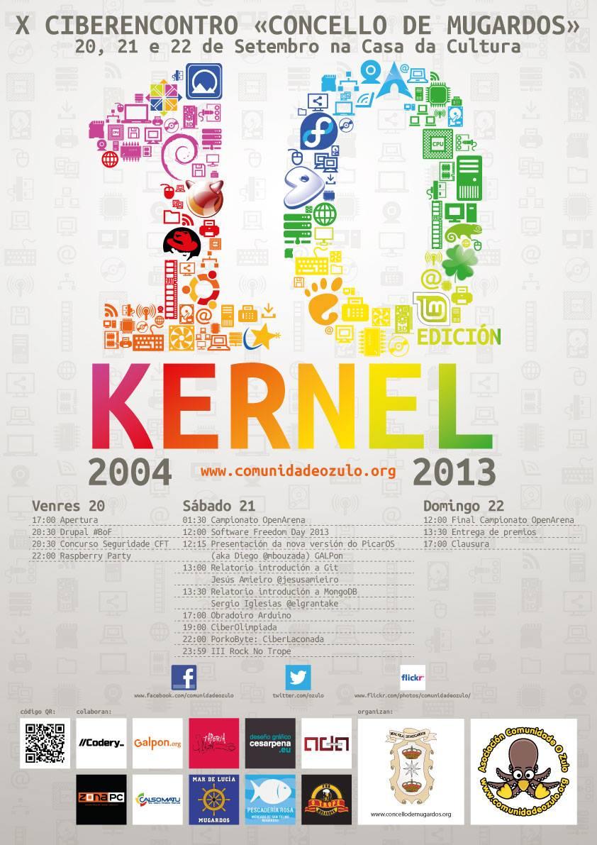 X Ciberencontro Concello de Mugardos. 10 edición del Kernel
