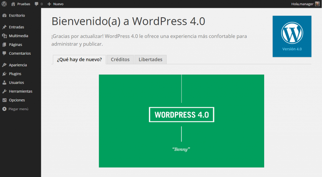 Acerca de ‹ Pruebas — WordPress