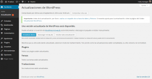 Actualizaciones de WordPress ‹ Pruebas — WordPress
