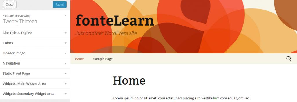 Customize Twenty Thirteen — WordPress 3.9