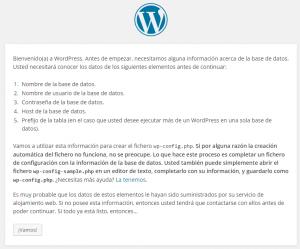 WordPress › Fichero de configuración de la instalación