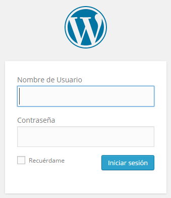 WordPress › Iniciar sesión