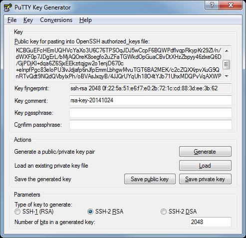 PuttyGen-Key-Generator