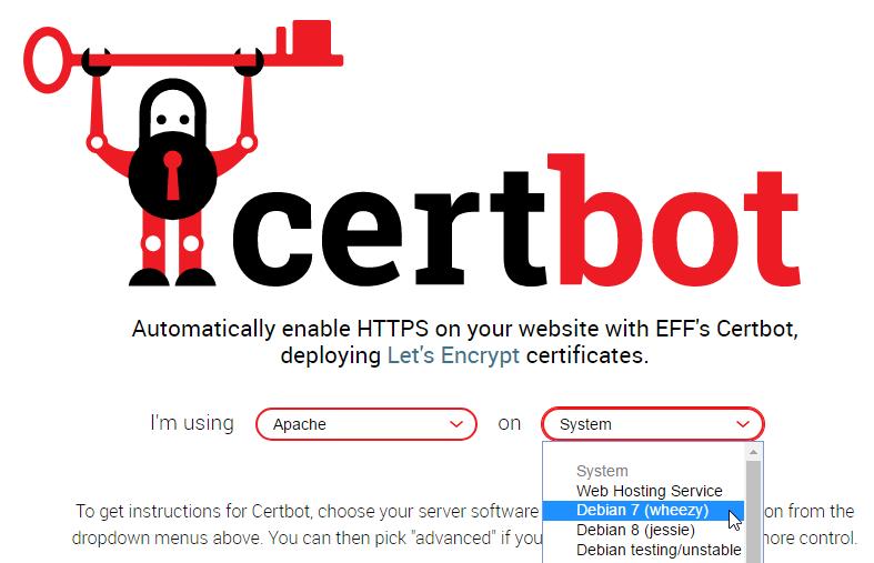 LetsEncrypt-Apache2-2-Debian7-Certbot